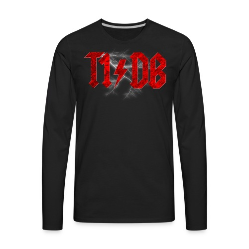 T1/DB AC/DC Style - Men's Premium Long Sleeve T-Shirt