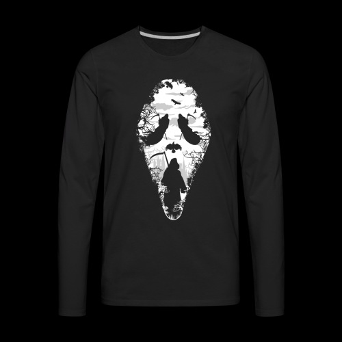 Reaper Screams | Scary Halloween - Men's Premium Long Sleeve T-Shirt