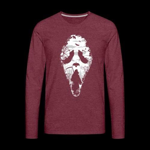 Reaper Screams | Scary Halloween - Men's Premium Long Sleeve T-Shirt