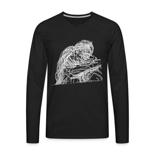 White / Kissing - Men's Premium Long Sleeve T-Shirt