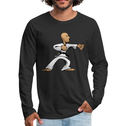 Martial Arts Dude - Men's Premium Long Sleeve T-Shirt