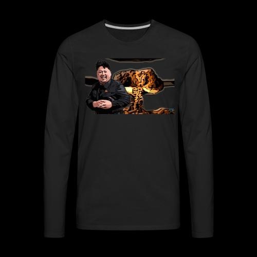 Crazy Kim exploded - Men's Premium Long Sleeve T-Shirt