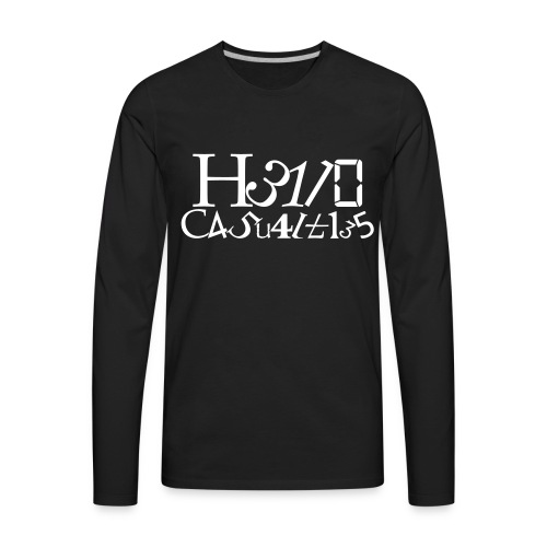 Hello Casualties Leet - Men's Premium Long Sleeve T-Shirt