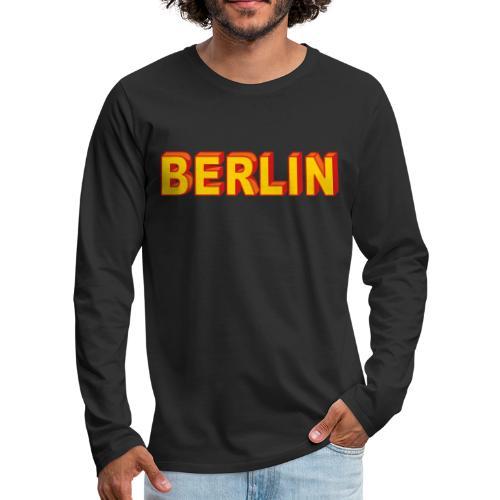 BERLIN Block Letters - Men's Premium Long Sleeve T-Shirt