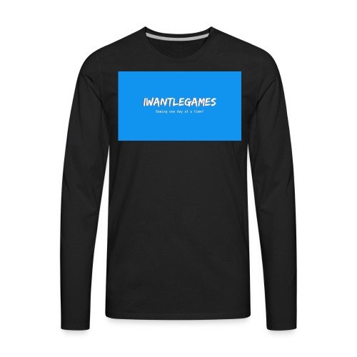 IWantLeGames - Men's Premium Long Sleeve T-Shirt