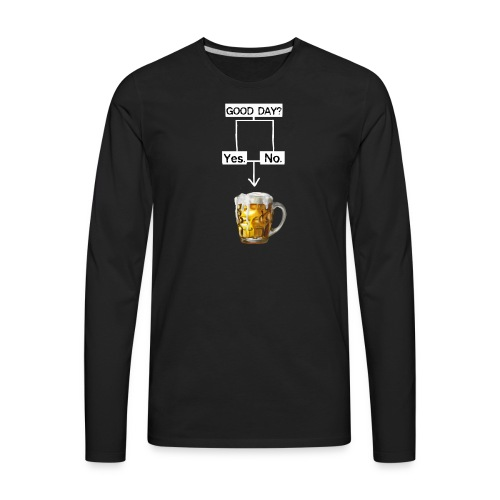 Problem Solving With Beer - Men's Premium Long Sleeve T-Shirt