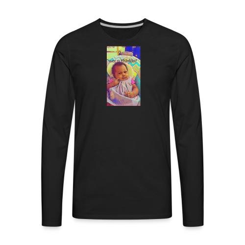 T Pheenie shirt wer u thinkin - Men's Premium Long Sleeve T-Shirt