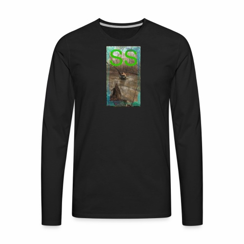 Mud logo - Men's Premium Long Sleeve T-Shirt