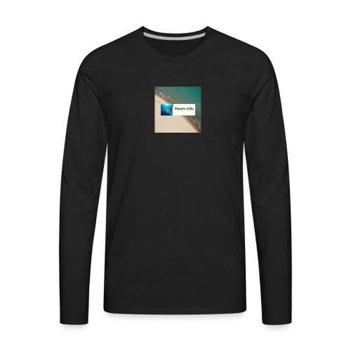 Plastic Kills Logo - Men's Premium Long Sleeve T-Shirt