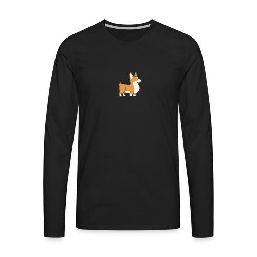 A Corgi - Men's Premium Long Sleeve T-Shirt