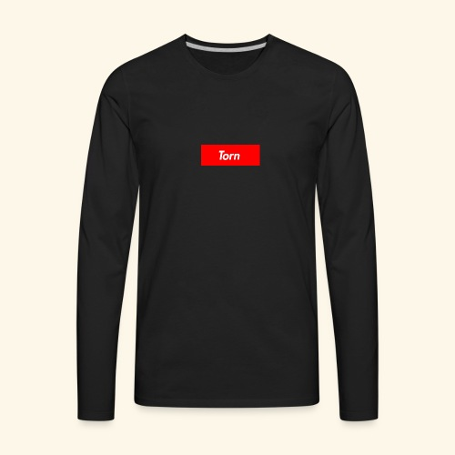 Torn Box Logo - Men's Premium Long Sleeve T-Shirt