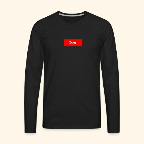 Torn Box Logo - Men's Premium Long Sleeve T-Shirt