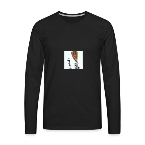 Less mobile more books - Men's Premium Long Sleeve T-Shirt