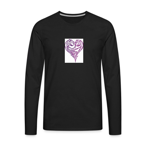 Jikjak heart - Men's Premium Long Sleeve T-Shirt