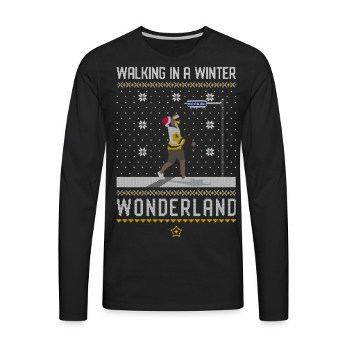 2018_Walking Winter Wonde - Men's Premium Long Sleeve T-Shirt