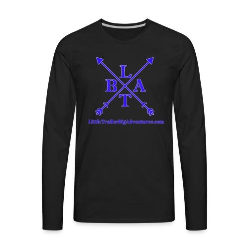 Blue LTBA Logo - Men's Premium Long Sleeve T-Shirt