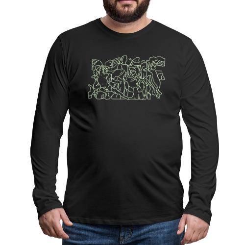 Pergamon Altar Berlin - Men's Premium Long Sleeve T-Shirt