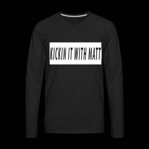 White Design - Men's Premium Long Sleeve T-Shirt