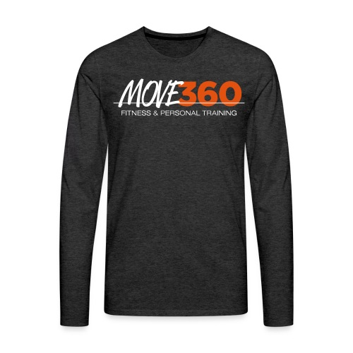 Move360 Logo LightGrey - Men's Premium Long Sleeve T-Shirt