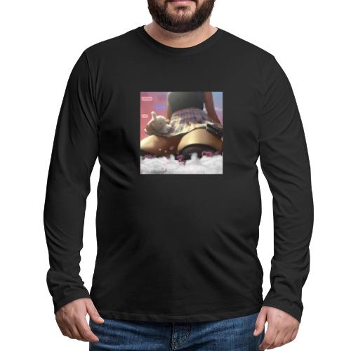 Chocolate waifu black text - Men's Premium Long Sleeve T-Shirt