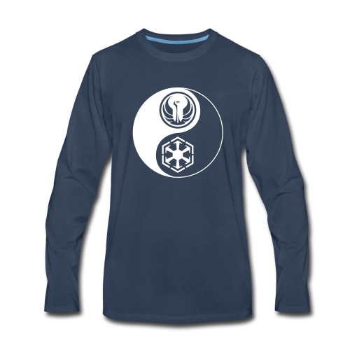 Star Wars SWTOR Yin Yang 1-Color Light - Men's Premium Long Sleeve T-Shirt