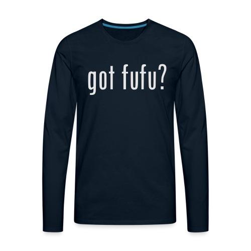 gotfufu-white - Men's Premium Long Sleeve T-Shirt