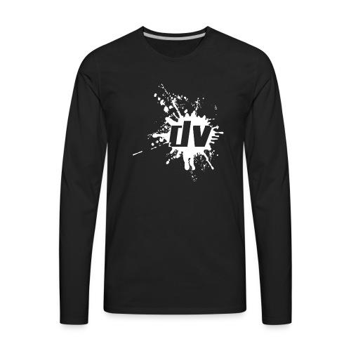 logo small white png - Men's Premium Long Sleeve T-Shirt
