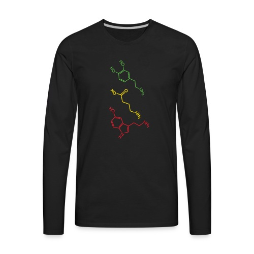 Psychoactive Molecules Tripsit Tshirt - Men's Premium Long Sleeve T-Shirt