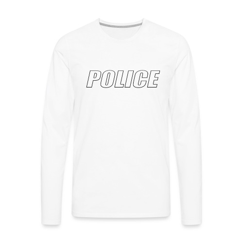 Police White - Men's Premium Long Sleeve T-Shirt