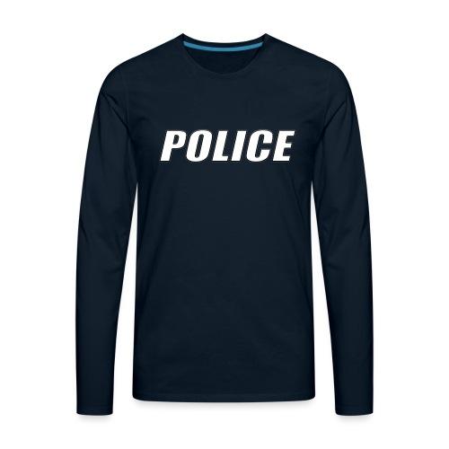 Police White - Men's Premium Long Sleeve T-Shirt