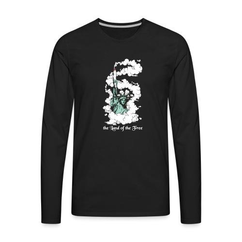 Amercia - the Land of the Free - Cannabis - Men's Premium Long Sleeve T-Shirt