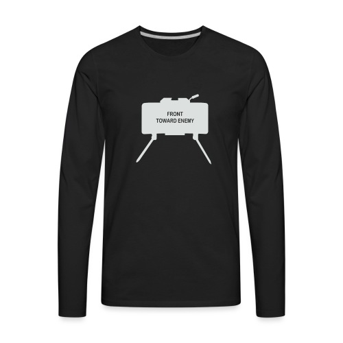 Claymore Mine (Minimalist/Light) - Men's Premium Long Sleeve T-Shirt