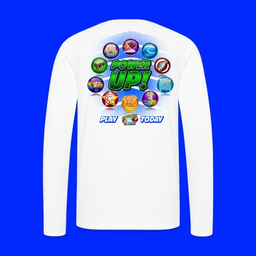 Vintage Cannonball Bingo Power-Up Tee - Men's Premium Long Sleeve T-Shirt