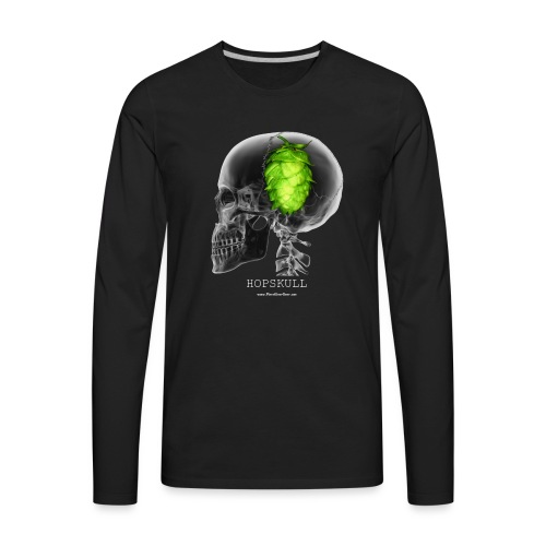 HOPSKULL T-Shirt (Double Sided) - Men's Premium Long Sleeve T-Shirt