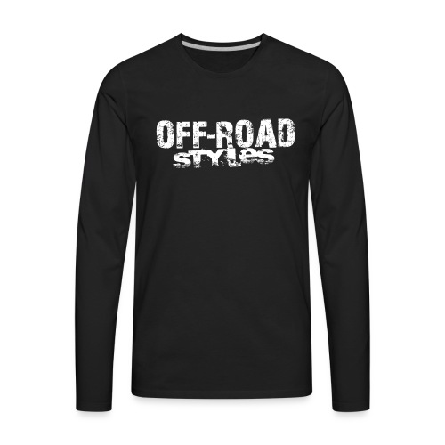 ATV Quad Cartoon Yellow Long Sleeve Shirts - Men's Premium Long Sleeve T-Shirt