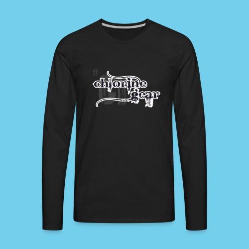 Chlorine Gear Textual stacked Periodic backdrop - Men's Premium Long Sleeve T-Shirt