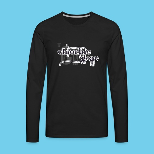 Chlorine Gear Textual B W - Men's Premium Long Sleeve T-Shirt