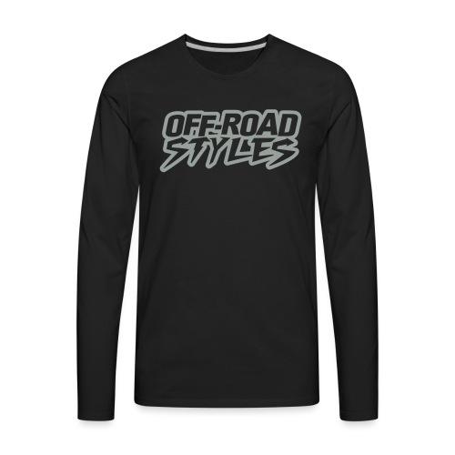 Extreme Dirt Bike Stunt T-Shirts - Men's Premium Long Sleeve T-Shirt