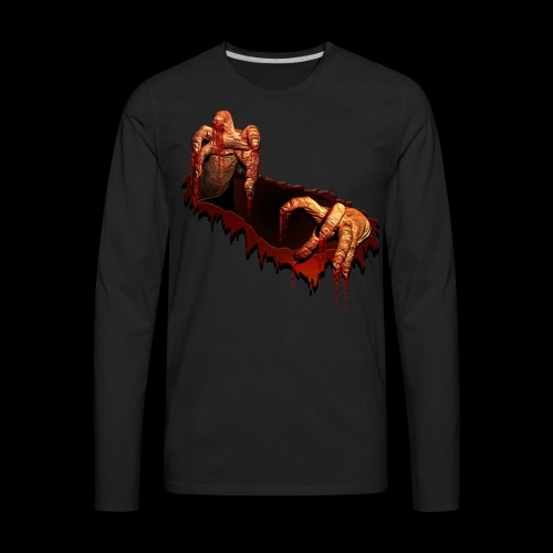 Zombie Shirts Gory Halloween Scary Zombie Gifts - Men's Premium Long Sleeve T-Shirt