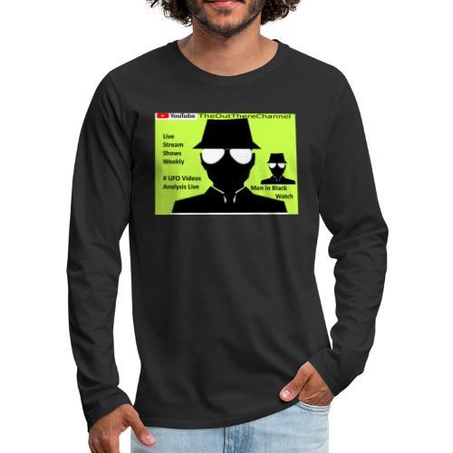 Mib 2 Men with Back Crew Logo - Men's Premium Long Sleeve T-Shirt