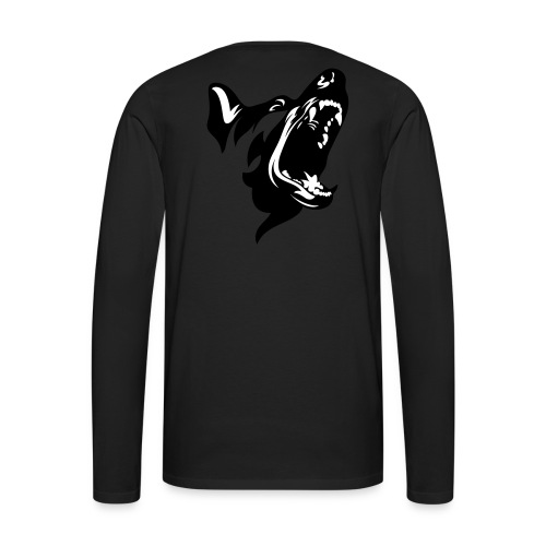 German Shepherd Dog Head - Men's Premium Long Sleeve T-Shirt
