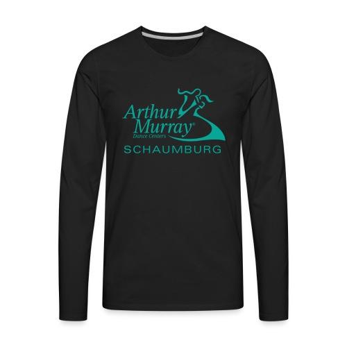 Arthur Murray Schaumburg Turquoise Logo - Men's Premium Long Sleeve T-Shirt