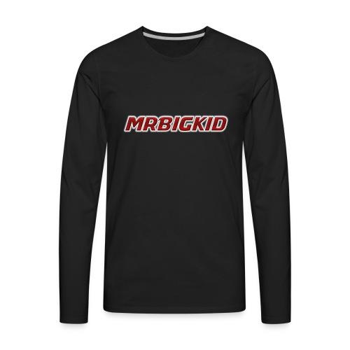 MrBigKid Textured Logo - Men's Premium Long Sleeve T-Shirt