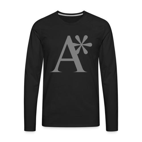A* logo - Men's Premium Long Sleeve T-Shirt