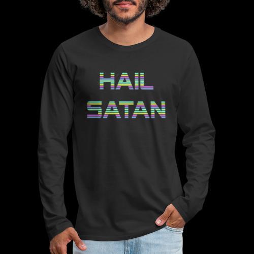 Hail Satan - Vaporwave - Men's Premium Long Sleeve T-Shirt