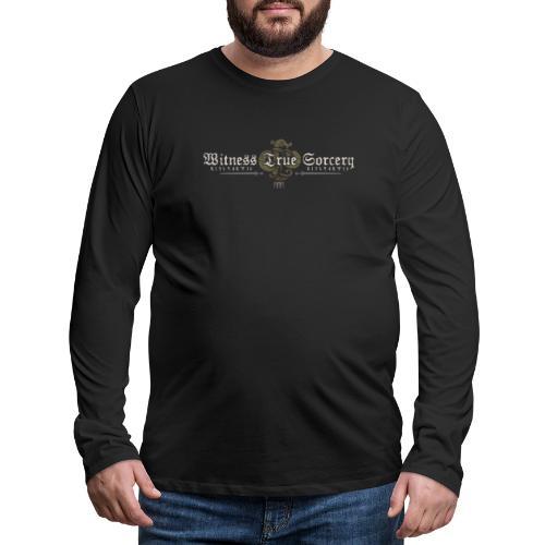 Witness True Sorcery Logo - Men's Premium Long Sleeve T-Shirt