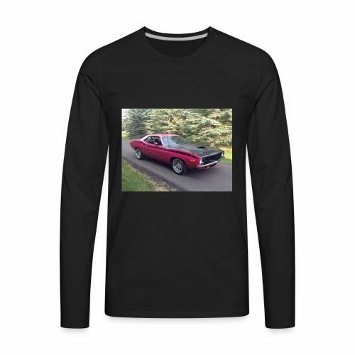 Plymouth 'Cuda 440+6 Pak 4-Speed - Men's Premium Long Sleeve T-Shirt
