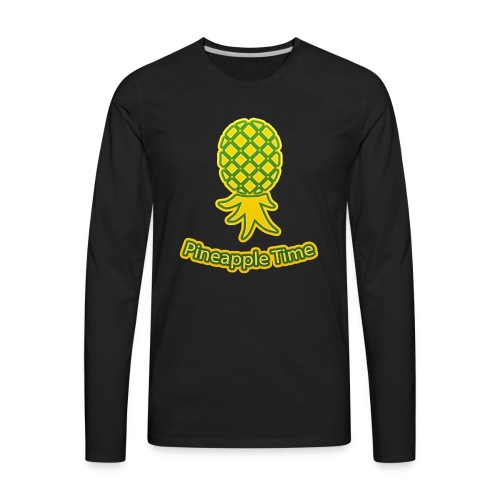 Swingers - Pineapple Time - Transparent Background - Men's Premium Long Sleeve T-Shirt