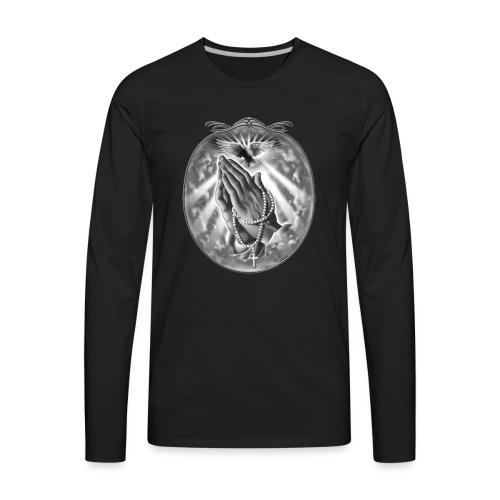 Praying Hands by RollinLow - Men's Premium Long Sleeve T-Shirt