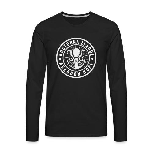 Nocturna League Abandon Hope - Black - Men's Premium Long Sleeve T-Shirt